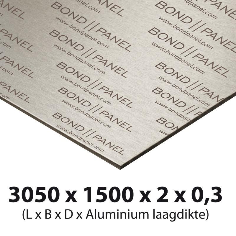 Bond panel plate 3000 x 1500 x 3 mm white