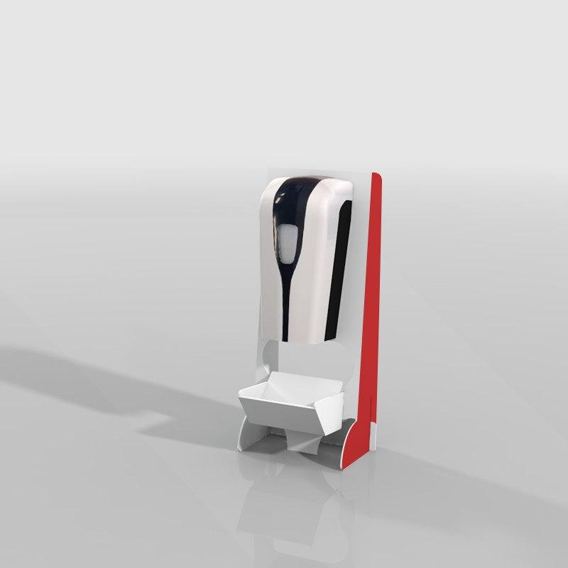 Desinfectie dispenser desktop bedrukt