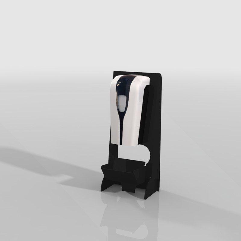 Desinfectiedisplay desktop zwart