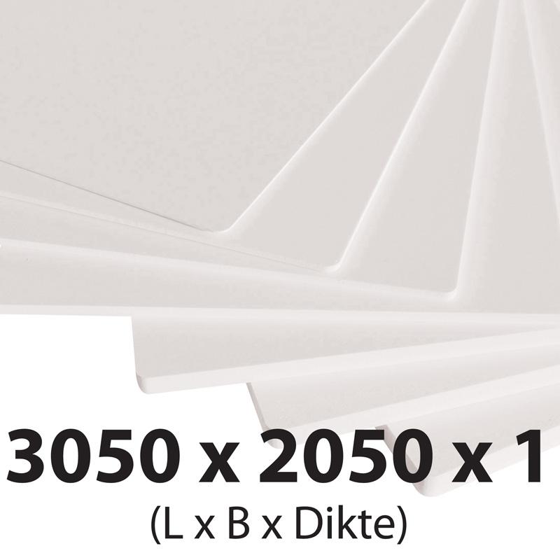 Plastech foamed pvc 1 mm 2050 x 3050 mm