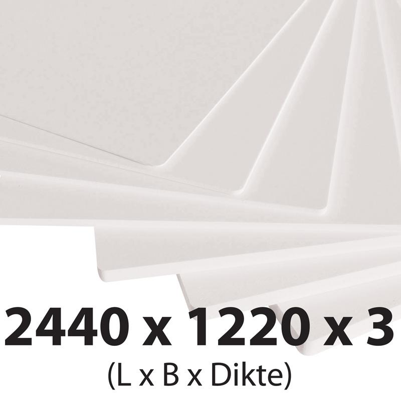 Plastech foamed pvc 3 mm 1220 x 2440 mm