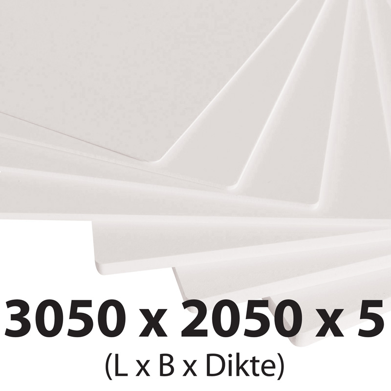 Plastech foamed pvc 5 mm 2050 x 3050 mm