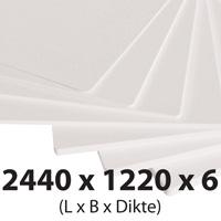 Plastech foamed pvc 6 mm 1220 x 2440 mm