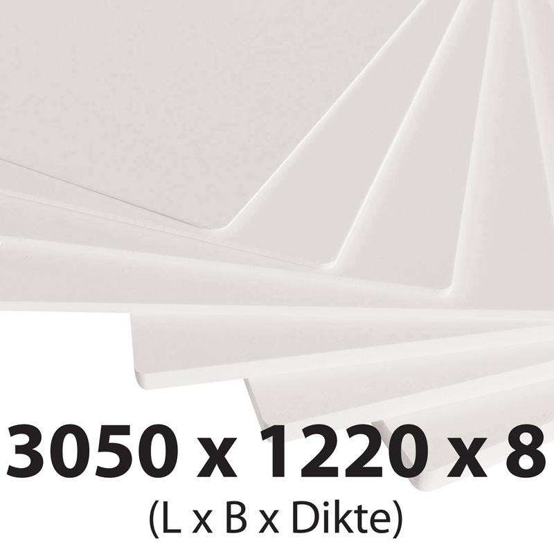 Plastech foamed pvc 8 mm 1220 x 3050 mm