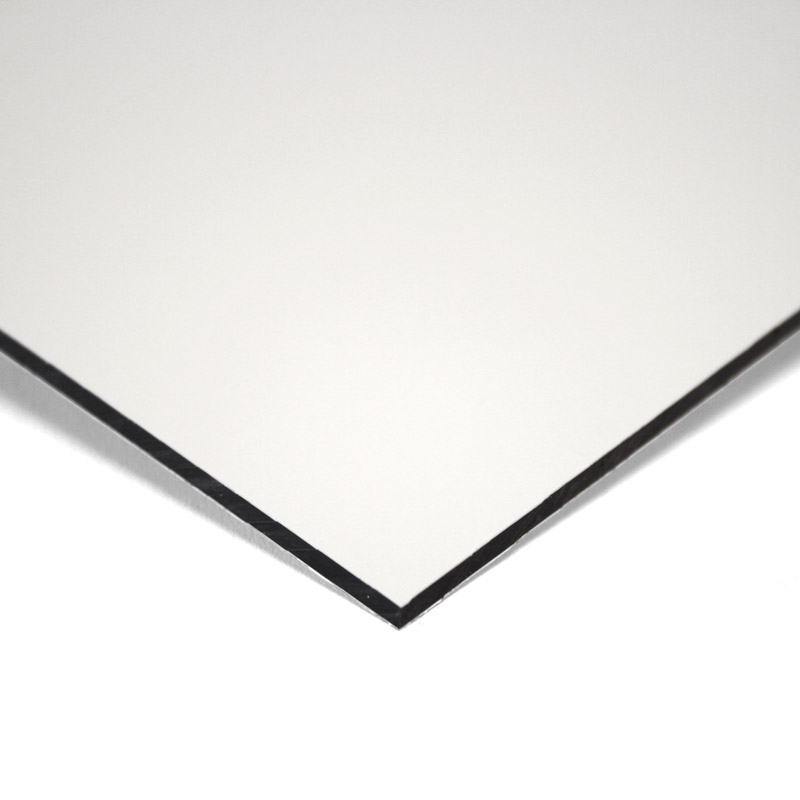 Composite panel white 2 mm 244 x 122 cm ø 0.21 mm