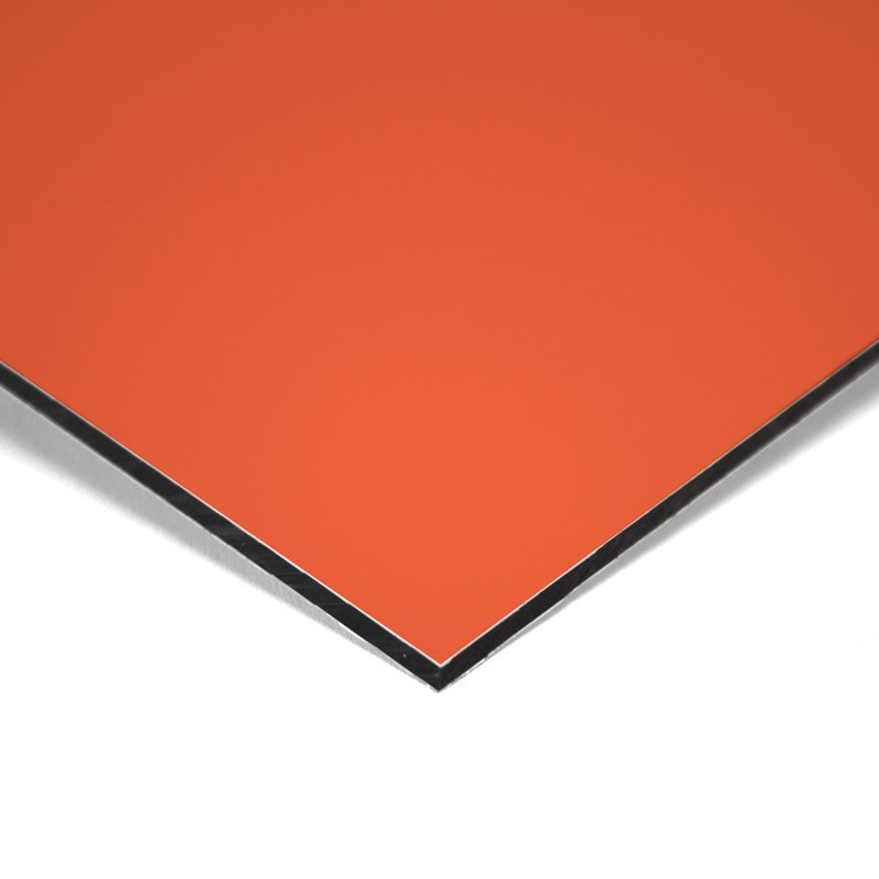 Composite panel orange 3 mm 305 x 150 cm ø 0.21