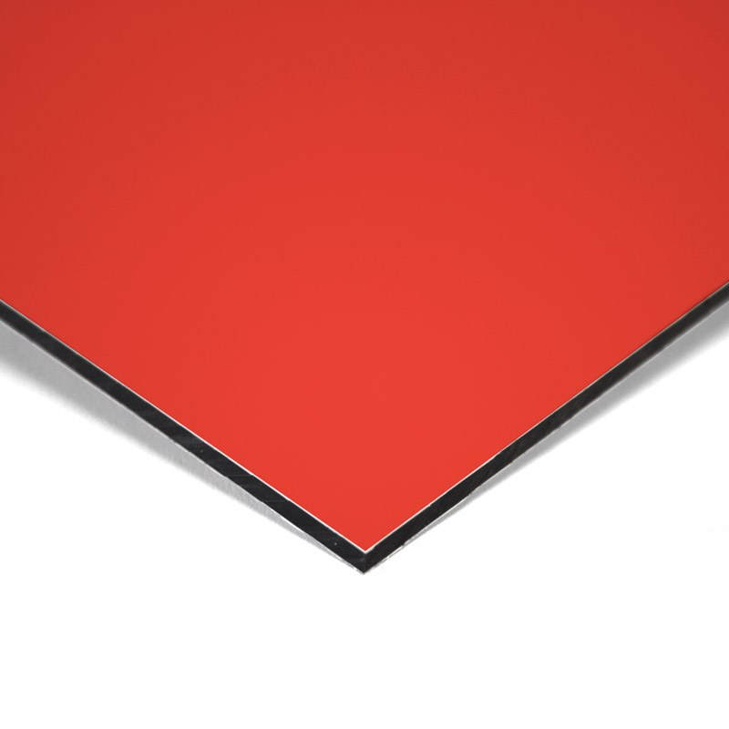 Composite panel red 3 mm 305 x 150 cm ø 0.21