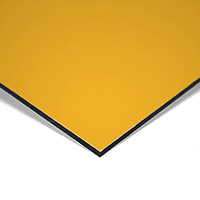 Composite panel yellow 3 mm 305 x 150 cm / 0.21