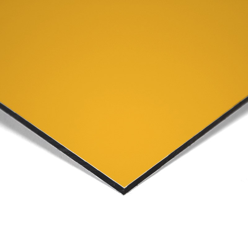 Composite panel yellow 3 mm 305 x 150 cm ø 0.21