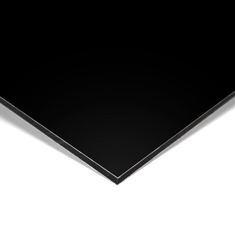 Composite panel black 3 mm 305 x 150 cm ø 0.21