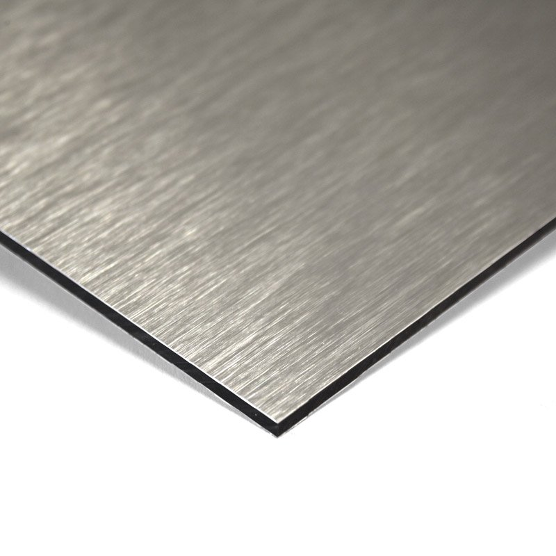 Composite panel brushed 3 mm 405 x 150 cm ø 0.30