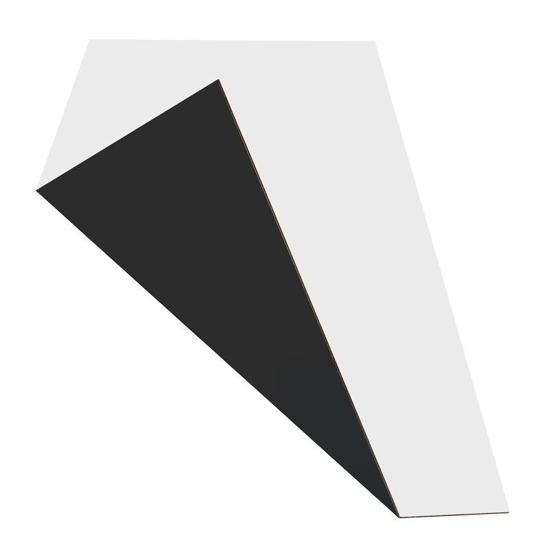 MGBond zwart / wit mat 3 mm ALU dikte 0,21 mm 3050 x 1500 mm