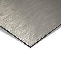 MGBond geborsteld RVS / neutraal 3 mm ALU dikte 0,30 mm 4050 x 1500 mm