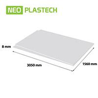 Plastech geschuimd PVC 8 x 1560 x 3050 mm