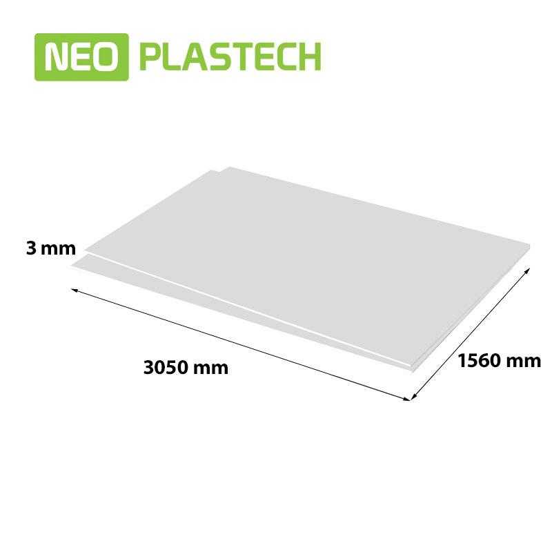 Neo Plastech geschuimd PVC 3 x 1560 x 3050 mm