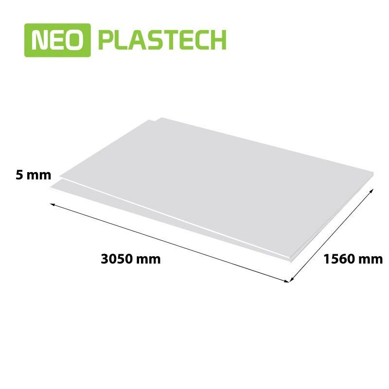 Neo Plastech geschuimd PVC 5 x 1560 x 3050 mm