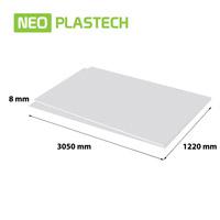 Neo Plastech geschuimd PVC 8 x 1220 x 3050 mm