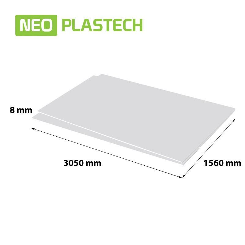 Neo Plastech geschuimd PVC 8 x 1560 x 3050 mm