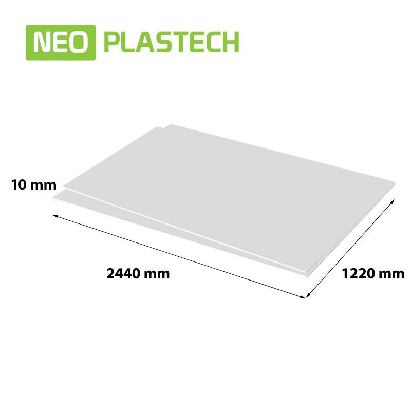 NEO Plastech geschuimd PVC 10 x 1220 x 2440 mm