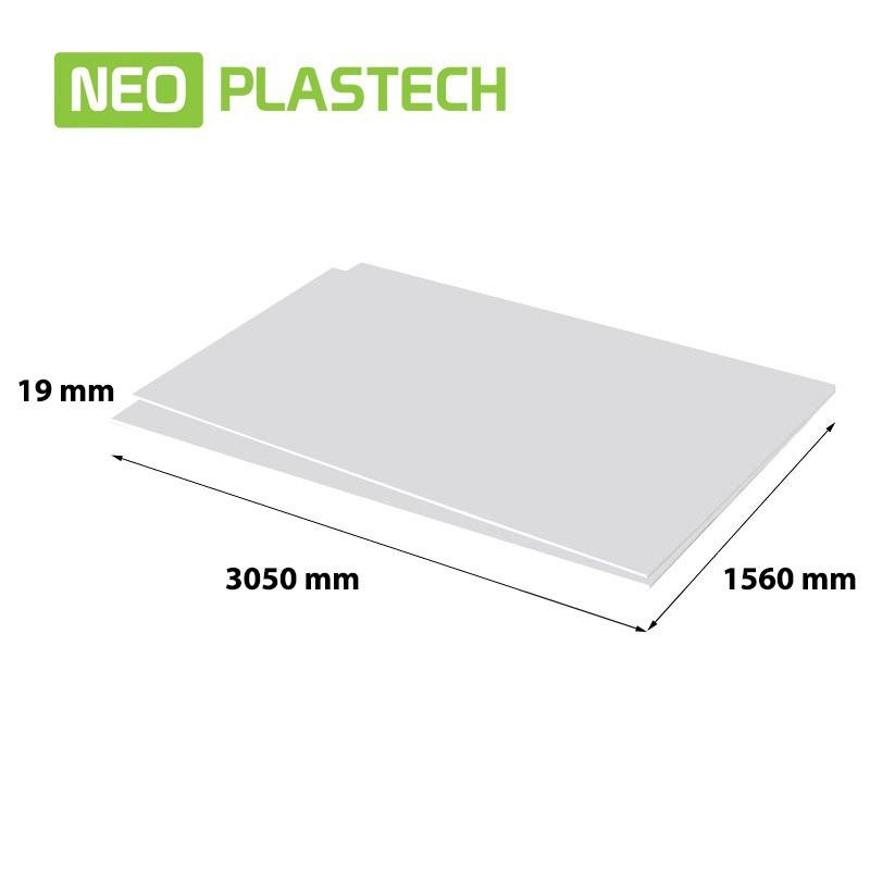 Neo Plastech geschuimd PVC 19 x 1560 x 3050 mm