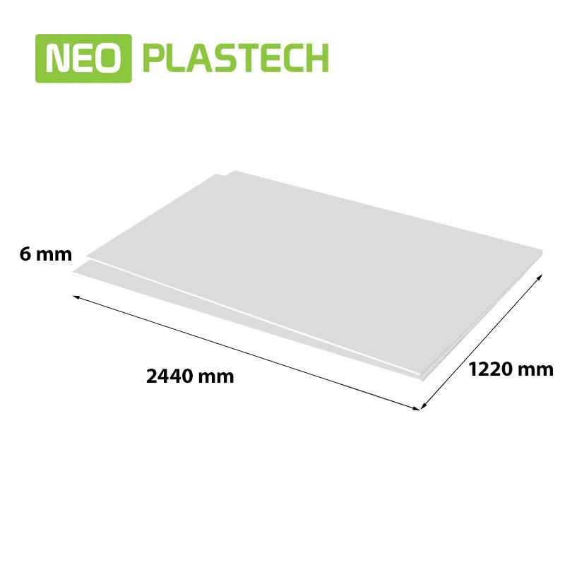 Neo Plastech geschuimd PVC 6 x 1220 x 2440 mm