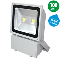 415 x 135 x 325 mm led floodlight ip66 100w 8000lm