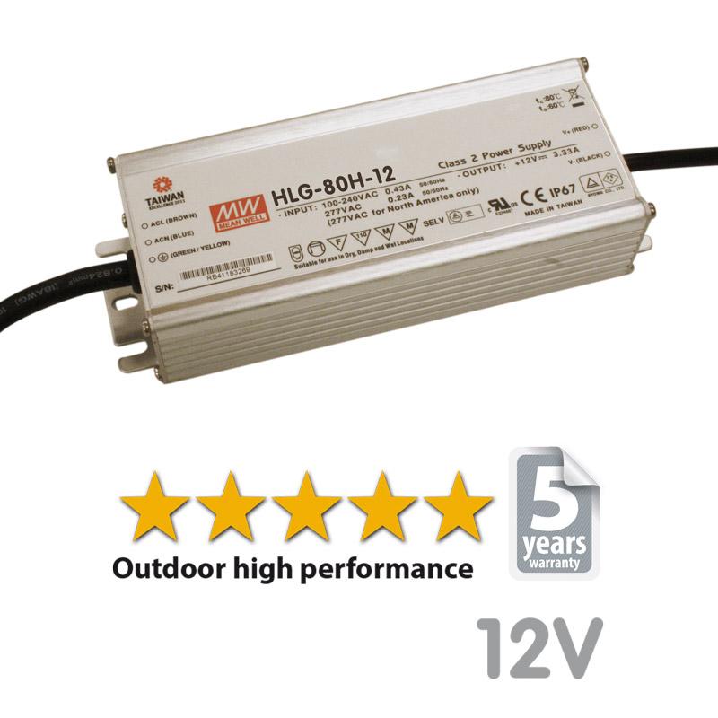 LED transformer HLG 80W-12V