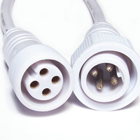 Power cord outdoor 4 threads RGB 120 mm female