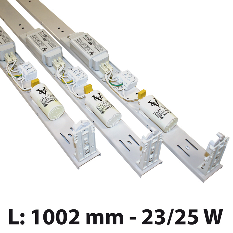 Fluorescent fixture 23/25w highmodel 1002 mm