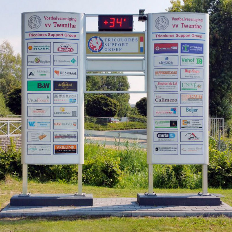 Ovaalsign 2500 x 1775 mm geanodiseerd LED