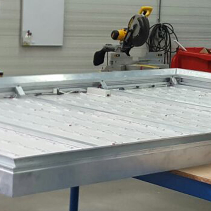 AluSmart 130 doekbak 8000 x 1000 mm