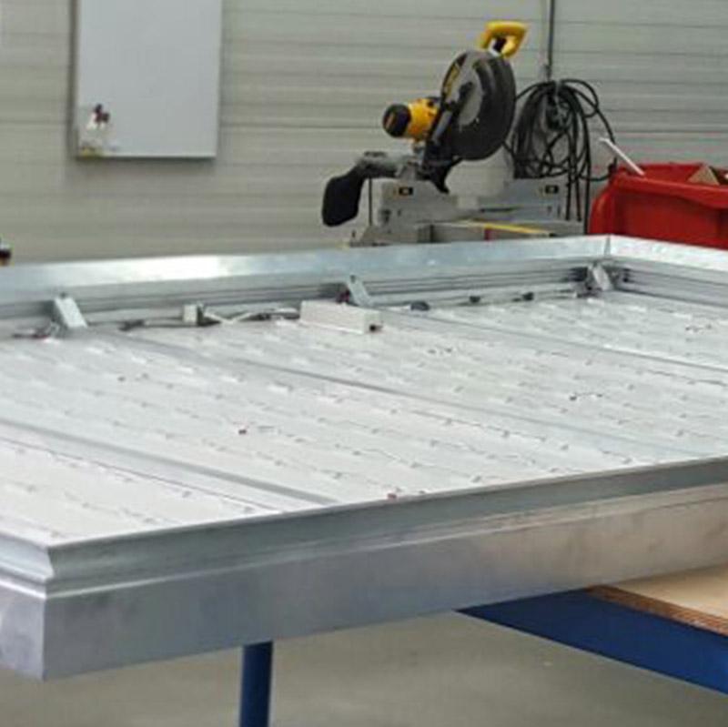 AluSmart 130 doekbak 8000 x 750 mm