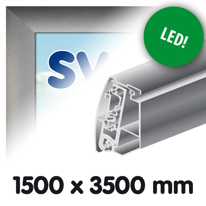 Doekbak Proface 1500 x 3500 mm verlichting LED geleverd zonder doek ...