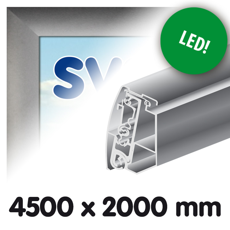 Proface boîte à lumière extérieure en toile 4500 x 2000 mm