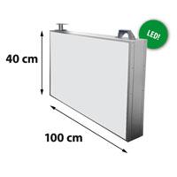 Lichtreclame dubbelzijdig 1000 x 400 mm