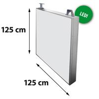 Lichtreclame dubbelzijdig 1250 x 1250 mm