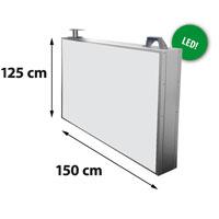 Lichtreclame dubbelzijdig 1500 x 1250 mm