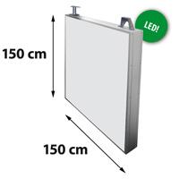Lichtreclame dubbelzijdig 1500 x 1500 mm