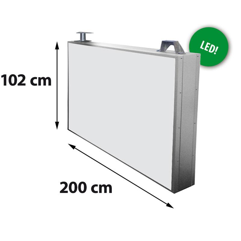 Lichtreclame dubbelzijdig 2000 x 1020 mm