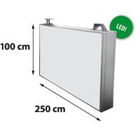 Lichtreclame dubbelzijdig 2500 x 1020 mm