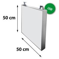 Lichtreclame dubbelzijdig 500 x 500 mm