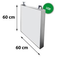 Lichtreclame dubbelzijdig 600 x 600 mm