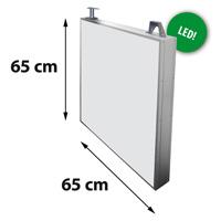 Lichtreclame dubbelzijdig 650 x 650 mm