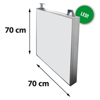 Lichtreclame dubbelzijdig 700 x 700 mm