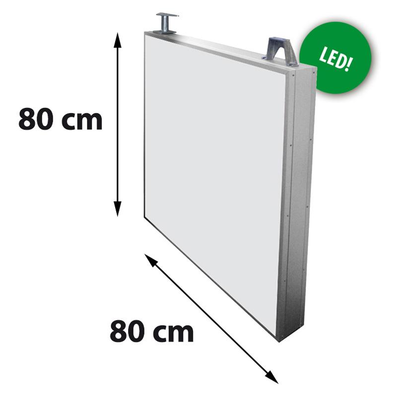 Lichtreclame dubbelzijdig 800 x 800 mm