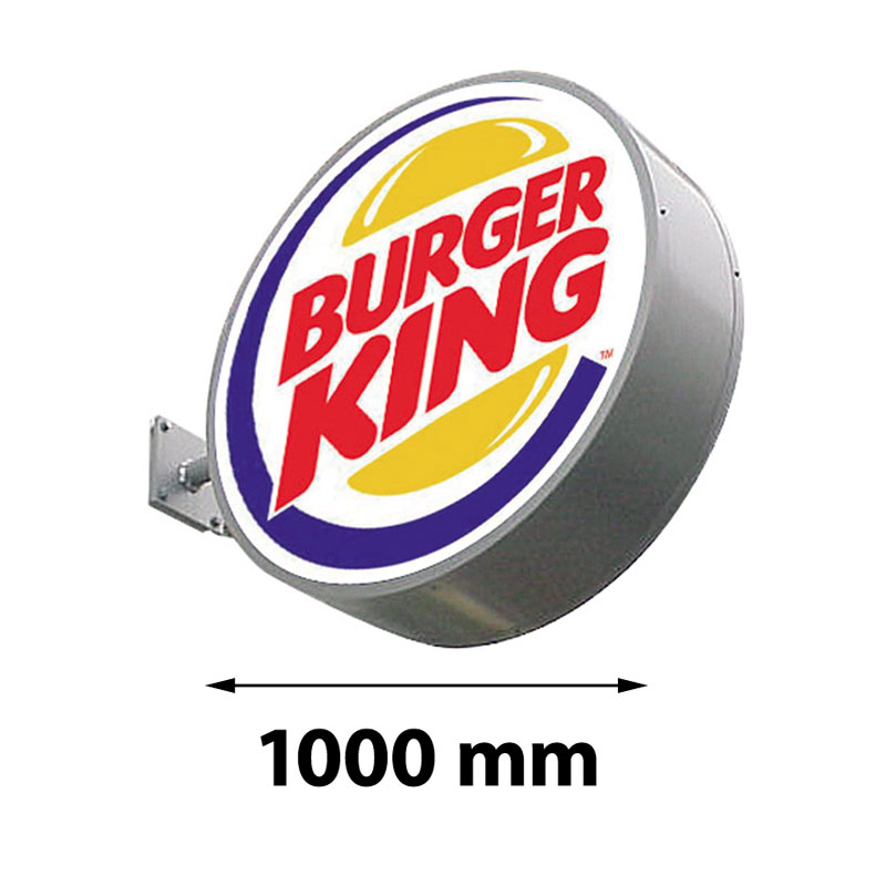Lichtreclame rond dubbelzijdig 1000 x 1000 mm