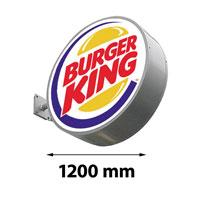 Lichtreclame rond dubbelzijdig 1200 x 1200 mm