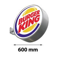 Lichtreclame dubbelzijdig rond 600 mm
