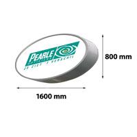 Lichtreclame ovaal enkelzijdig 1600 x 800 mm