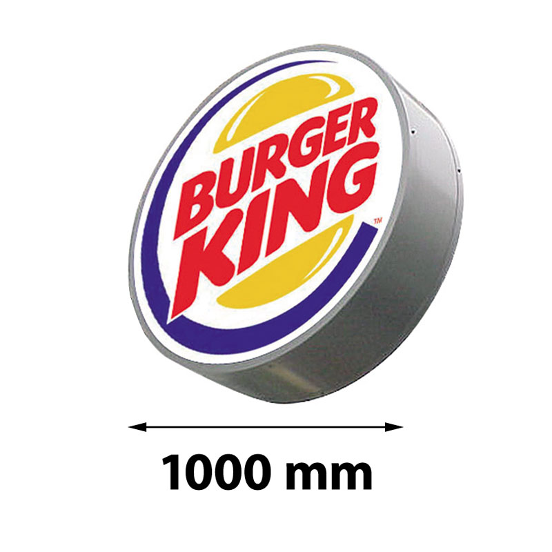 Lichtreclame rond enkelzijdig 1000 x 1000 mm